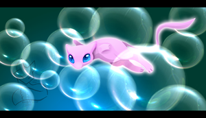 Mew Bubbles by VengefulSpirits