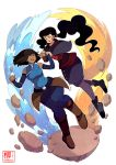 Korra and Asami by Willow-San