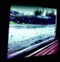 The Window Outlook A Rainy Day  by eskile