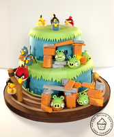 Angry Birds Cake by MrsBumble
