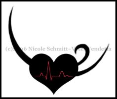 beating heart tattoo design by HigHHalo