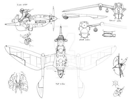 British ultralight design sketch by s2ka