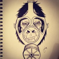 Grorilla Gas Mask by abathingnerd