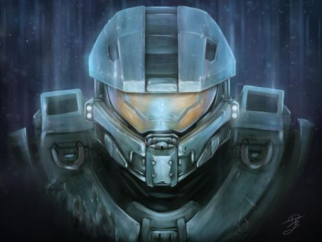 Master chief and Cortana by DJBshadow
