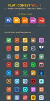 Flat Iconset Vol 1 by KL-Webmedia