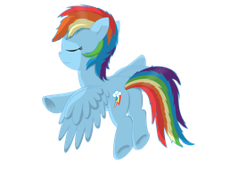 Sleepflying Rainbow Dash by Neriani