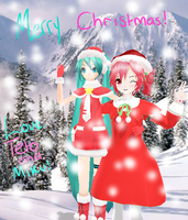 Merry Christmas from Miku and Teto by Baotei