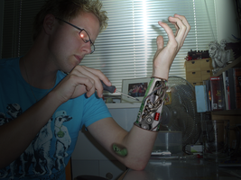 Robotarm With Circuitboard by perbrethil