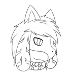 CO-Zack headshot lineart by DRD-FunTime
