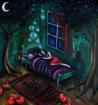 while sleeping by EvyLou
