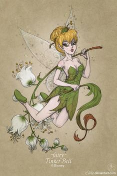 423 fairy Tinker Bell by GALEKA-EKAGO