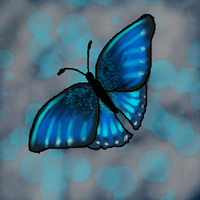 blue butterfly by moonlightartistry