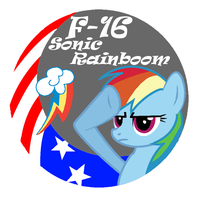 Rainbow Dash F-16 patched design - 2 by sudro