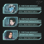 Commission - FireTeam Midnight Coms by Guyver89