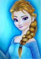 Elsa Frozen (The hair is with a different color) by clebersonmachado