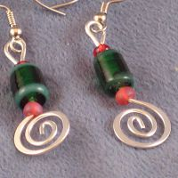 Holiday Spirit II: Earrings by ErrantDreams