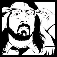 Bansky Style Dave Grohl by PINKTHONG