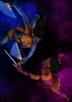 Kitana vs. Mileena by Blackknight1987