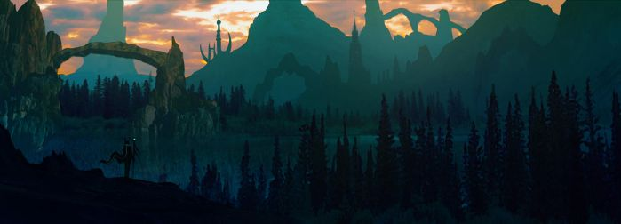 Matte painting - First attempt by iDaisan