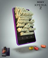 Sony Xperia Z Poster Ad by Jay5204