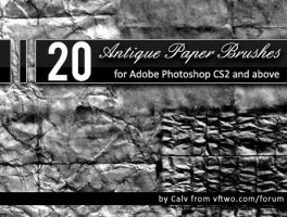 20 'Antique Paper' Brushes by CalvinSteward