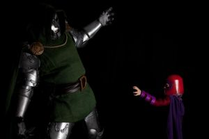 Dr. Doom and Mini Magneto Cosplay by NasalHair001