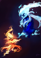 Fire vs Water by StaticColour
