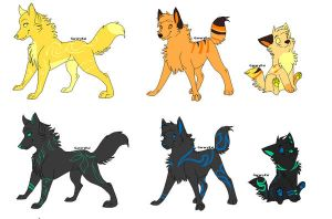 Adopts for Cryztal Adoptions by WhiteCrowShiro