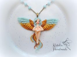 Bird of paradise ooak fairy by KatalinHandmade