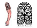 Gothic style tribal tattoo by thehoundofulster