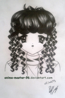 Hair Study from the Imagination (4) Front View by anime-master-96