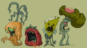 Zombie Veggies by JeffVictor