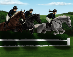 Team Chasing: A Raven and Two Stars by CollidingStarsStable