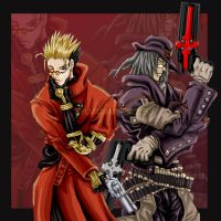 Vash and Gungrave- Hero Time by Sylvarant-Cross