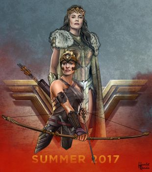 QUEEN HIPPOLYTA and ANTIOPE by hamletroman