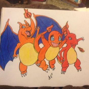 Charmander Evolutions! by SikkCreationz