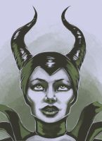 3 color challenge Maleficent by NightCatty