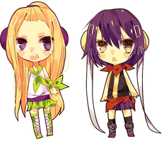 Chibis by kittsay
