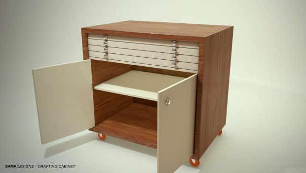 Drafting Cabinet - Open Cabinet by Sama-mj