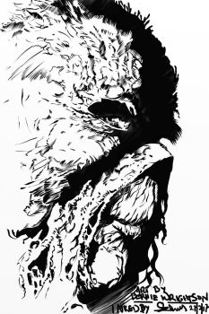 Wrightson inking SwampThing 1 by NavajoBirdsong