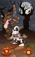 Sam and Max Halloween by WonderDookie