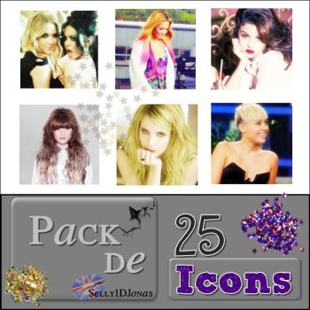 +Pack 25 Icons famosas by Selly1DJonas