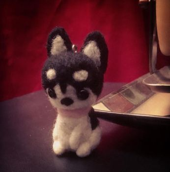 Felted Chibi Husky by bytail