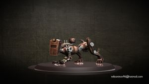 Hunter - Steampunk Robot by wilzoon