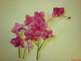 Orchid Watercolour by Lost-In-Reality248