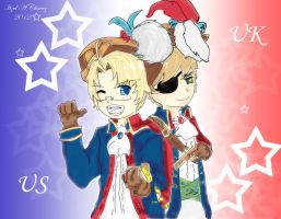 Hetalia Pirate US and UK by Kireinami