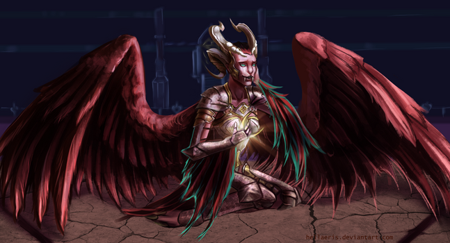 Commission: Angel of Death by Hellaeris