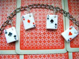 Playing Card Charms by Origami-Joe