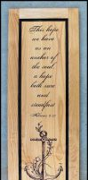 Anchor of Hope by STUMPITUPWoodworks