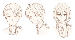 SNK sketches by Momijiki